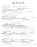 Tài liệu De cuong on tap-Hoa hoc 8
