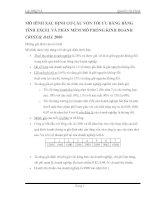 MÔ HÌNH XÁC ĐỊNH CƠ CẤU VỐN TỐI ƯU BẰNG BẢNG TÍNH EXCEL VÀ PHẦN MỀM MÔ PHỎNG KINH DOANH CRYSTAL BALL 2000