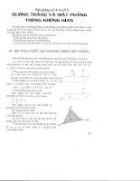 Bài giảng số 4+5: Đường thẳng và mặt phẳng trong không gian
