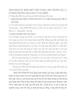 PHÂN TÍCH CÁC HÌNH THỨC TIỀN LƯƠNG, TIỀN THƯỞNG TẠI C.ty CỔ PHẦN THƯƠNG MẠI & ĐẦU TƯ GIA TRỊNH