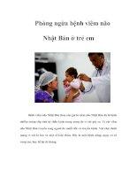Phòng ngừa bệnh viêm não Nhật Bản ở trẻ em