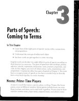 Parts of Speech - Coming to Terms