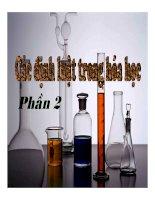 Bài giảng các định luật trong hóa học p2