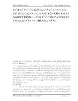 MỘT SỐ Ý KIẾN ĐÓNG GÓP VỀ CÔNG TÁC KẾ TOÁN QUẢN TRỊ HÀNG TỒN KHO TẠI XÍ NGHIỆP KINH DOANH TỔNG HỢP