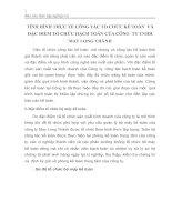 TÌNH HÌNH THỰC TẾ CÔNG TÁC TỔ CHỨC KẾ TOÁN  VÀ ĐẶC ĐIỂM TỔ CHỨC HẠCH TOÁN CỦA CÔNG  TY TNHH MAY LONG THÀNH