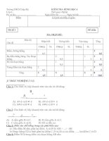 Kiểm tra 1 tiết Hình học 6(4 mã đề) kì 1