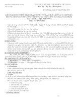 kế hoạch tổ chức các hội thi 20-11