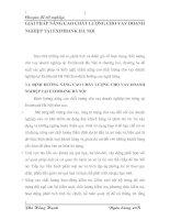 GIẢI PHÁP NÂNG CAO CHẤT LƯỢNG CHO VAY DOANH NGHIỆP TẠI EXIMBANK HÀ NỘI