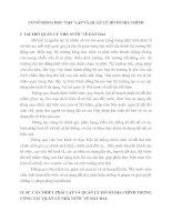 CƠ SỞ KHOA HỌC VIỆC LẬP VÀ QUẢN LÝ HỒ SƠ ĐỊA CHÍNH