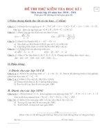 đề và đáp án đề 14