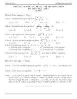 Tài liệu Kiểm tra 1 tiết Đại số 10 chương 3