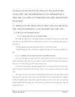 CƠ SỞ LÝ LUẬN CHUNG VỀ CÔNG TÁC HẠCH TOÁN KẾ TOÁN, TIÊU THỤ THÀNH PHẨM VÀ XÁC ĐỊNH KẾT QUẢ  TIÊU THỤ TẠI CÔNG TY TNHH NHÀ NƯỚC MỘT THÀNH VIÊN XUÂN HOÀ