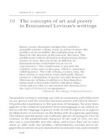 The concepts of art and poetry in Emmanuel Levinas's writings