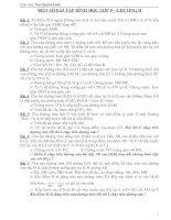 MỘT SỐ BÀI TẬP CHƯƠNG II - HÌNH HỌC 9