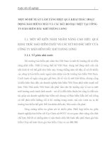 MỘT SỐ ĐỀ XUẤT LÀM TĂNG HIỆU QUẢ KHAI THÁC HOẠT ĐỘNG BẢO HIỂM CHÁY VÀ CÁC RỦI RO ĐẶC BIỆT TẠI CÔNG TY BẢO HIỂM DẦU KHÍ THĂNG LONG
