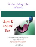 Bài giảng Chapter 15 Acids and Bases