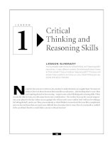 Critical Thinking and Reasoning Skills