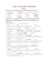 Bài tập tiếng anh 12 - bộ 3