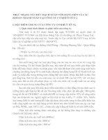 THỰC TRẠNG TỔ CHỨC HẠCH TOÁN VỐN BẰNG TIỀN VÀ CÁC KHOẢN THANH TOÁN TẠI CÔNG TY CƠ KHÍ Ô TÔ 3