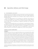 Operative delivery and third stage