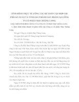 TÌNH HÌNH THỰC TẾ CÔNG TÁC KẾ TOÁN TẬP HỢP CHI PHÍ SẢN XUẤT VÀ TÍNH GIÁ THÀNH SẢN PHẨM TẠI CÔNG TY CỔ PHẦN MAY THĂNG LONG