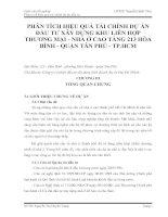 PHÂN TÍCH HIỆU QUẢ TÀI CHÍNH DỰ ÁN ĐẦU TƯ XÂY DỰNG KHU LIÊN HỢP THƯƠNG MẠI - NHÀ Ở CAO TẦNG 213 HÒA BÌNH - QUẬN TÂN PHÚ - TP.HCM