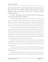 MỘT SỐ GIẢI PHÁP VÀ KIẾN NGHỊ NHẰM PHÒNG NGỪA VÀ HẠN CHẾ RỦI RO TRONG THANH TOÁN QUỐC TẾ THEO PHƯƠNG THỨC TÍN DỤNG CHỨNG TỪ TẠI NGÂN HÀNG No&PTNT HÀ NỘI