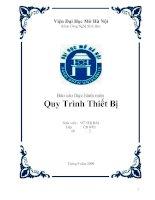 Báo cáo thực hành môn : Quy Trình Thiết Bị