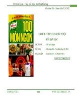 100 Món Ngon – Cùng Nấu Ngon Như Vua Đầu Bếp