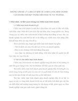 NHỮNG VẤN ĐỀ LÝ LUẬN CƠ BẢN VỀ CHIẾN LƯỢC KINH DOANH CỦA DOANH NGHIỆP TRONG NỀN KINH TẾ THỊ TRƯỜNG
