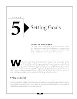 Critical Thinking Skills Success - Setting Goals