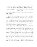 NHẬN XÉT VÀ KIẾN NGHỊ NHẰM HOÀN THIỆN KIỂM TOÁN TÀI SẢN CỐ ĐỊNH TẠI CHI NHÁNH CÔNG TY TRÁCH NHIỆM HỮU HẠN KIỂM TOÁN VÀ TƯ VẤN A