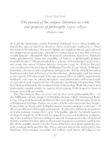 The pursuit of the subject - literature as critic and perfecter of philosophy 1790-1830