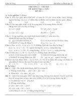 Bài soạn Kiểm tra 1 tiết Hình học 10 chương 1