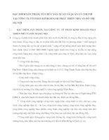 ĐẶC ĐIỂM SẢN PHẨM, TỔ CHỨC SẢN XUẤT VÀ QUẢN LÝ CHI PHÍ TẠI CÔNG TY CỔ PHẦN KINH DOANH PHÁT TRIỂN NHÀ VÀ ĐÔ THỊ HÀ NỘI
