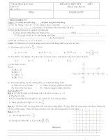 Tài liệu kiểm tra 1 tiết toán 7