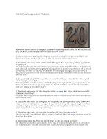 20 câu hỏi xây dựng nhóm rất hiệu quả