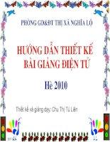 Bài giảng boi duong giao vien he 2010