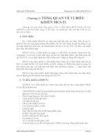 Giáo trình Vi điều khiển - Chương 1: TỔNG QUAN VỀ VI ĐIỀU KHIỂN MCS-51