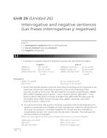 Interrogative and negative sentences