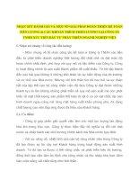 NHẬN XÉT ĐÁNH GIÁ VÀ MỘT SỐ GIẢI PHÁP HOÀN THIỆN KẾ TOÁN TIỀN LƯƠNG & CÁC KHOẢN TRÍCH THEO LƯƠNG TẠI CÔNG TY TNHH XÚC TIẾN ĐẦU TƯ PHÁT TRIỂN DOANH NGHIỆP VIỆT
