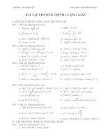 bài tập phương trình lượng giác