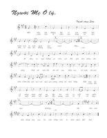 Bài hát người mẹ Ô Lý - Trịnh Công Sơn (lời bài hát có nốt)