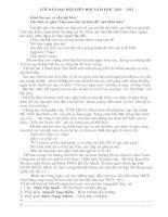 Bài giảng Lời dẫn đại hội chi (Liên )Đội 10-11
