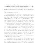 TÌNH HÌNH ĐẦU TƯ NÂNG CAO NĂNG LỰC CẠNH TRANH CỦA CHI NHÁNH NGÂN HÀNG NÔNG NGHIỆP VÀ PHÁT TRIỂN NÔNG THÔN THỦ ĐÔ GIAI ĐOẠN 2006-2008