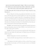 MỘT SỐ GIẢI PHÁP NHẰM HOÀN THIỆN  CÔNG TÁC HUY ĐỘNG VỐN THÔNG QUA PHÁT HÀNH TRÁI PHIẾU CHÍNH PHỦ TẠI KHO BẠC NHÀ NƯỚC LƯƠNG SƠN TRONG THỜI GIAN TỚI