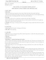 Giáo án Địa lí 12 – Tự chọn nâng cao