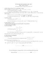 Đề toán thi học kì I(Có đáp án)
