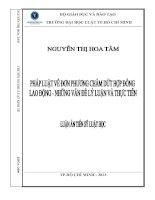 Pháp luật về đơn phương chấm dứt hợp đồng lao động   những vấn đề lý luận và thực tiễn