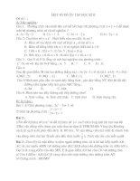 Bài giảng Một số đề ôn tập KT HKII Toan 9